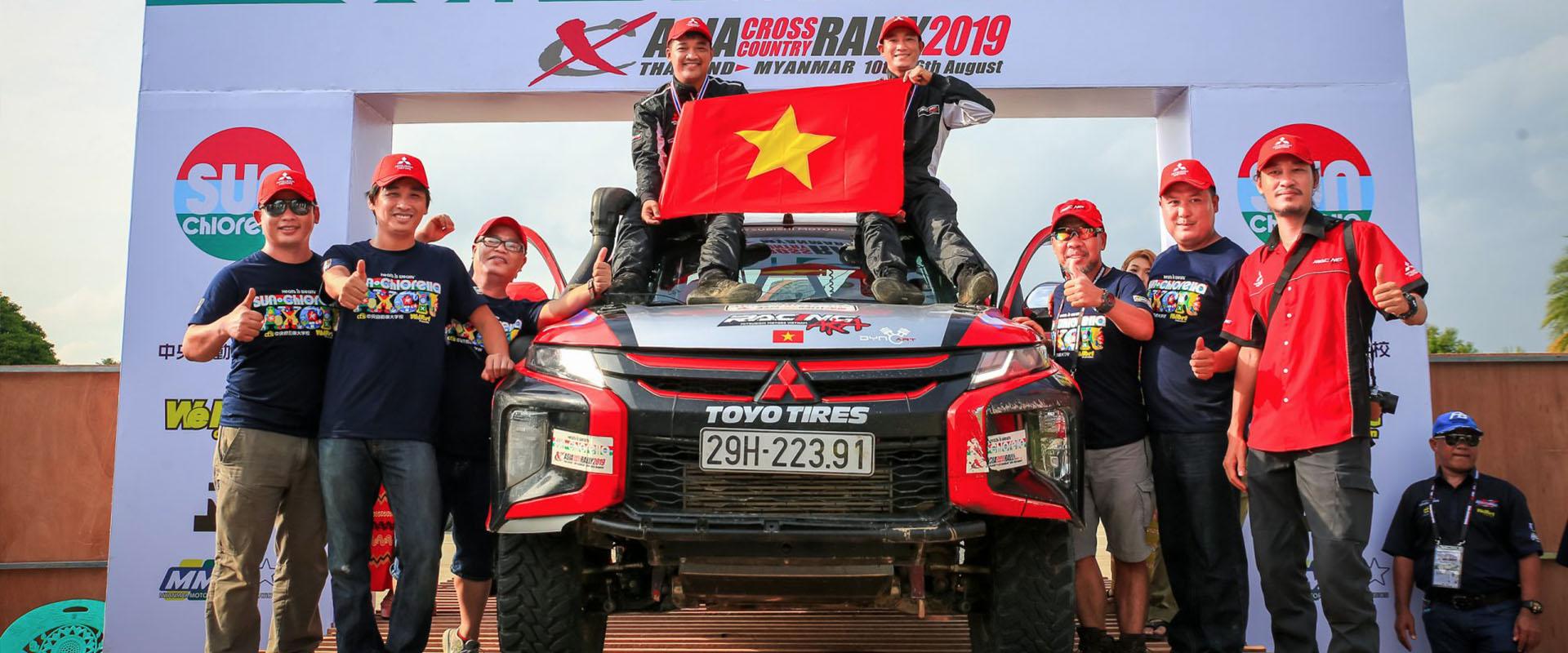 RACING AKA ĐẠT THÀNH TÍCH ẤN TƯỢNG TẠI ASIAN CROSS COUNTRY RALLY 2019